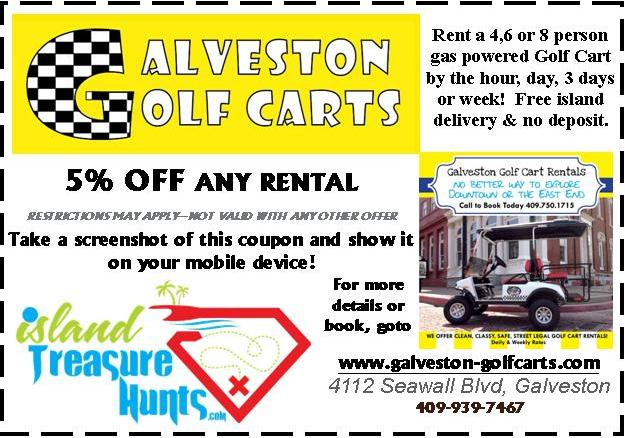 GALVESTON GOLF CARTS DISCOUNT